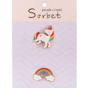 Стильные значки и серьги Sorbet